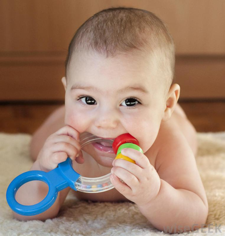 baby-chewing-on-teething-ring